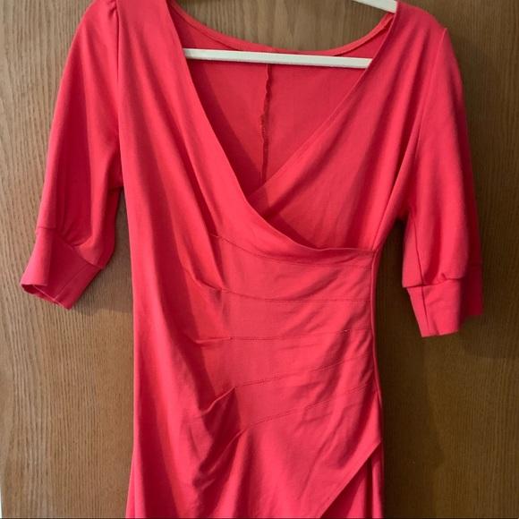 Dresses & Skirts - HOT 🔥 Crossover pink dress 💋